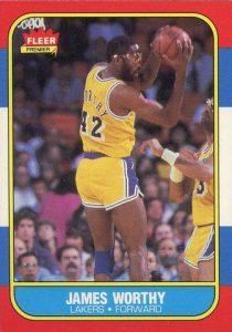 1986-87 Fleer James Worthy