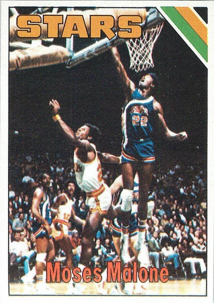 Moses Malone rookie card 1975-76
