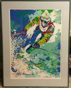 Leroy Neiman's prints can be found hand signed and plate signed.  The plate signed will have the signatures in the image, while the hand signatures will be in the white borders.