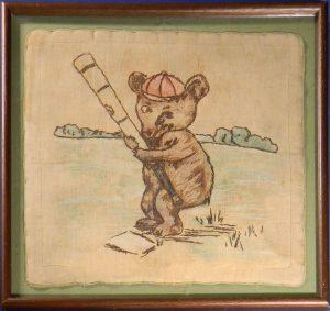 Many antique folk art sports items were handmade