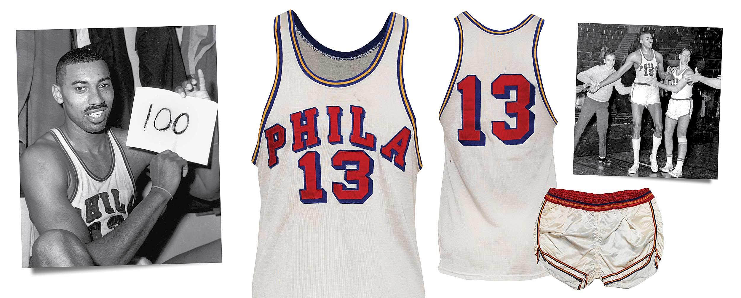 1960s Philadelphia Warriors Wilt Chamberlain jersey