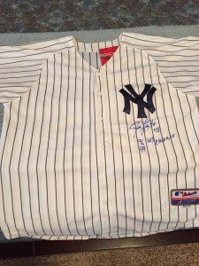 Jim Leyritz autographed jersey