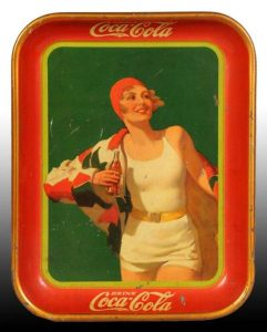 Antique lithograph tin trays are highly collectable with both sport and non-sport collectors.  Coca Cola trays are particularly popular.