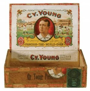 With this cigar box, they printed both directly onto the wooded box and applied lithograph paper labels