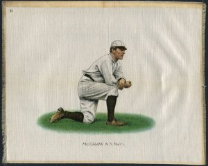 Another premium from Turkish Trophy tobacco.  This one of John McGraw is on cloth.
