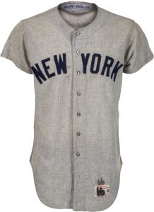 Mickey Mantle 1966 Yankees road jersey game worn