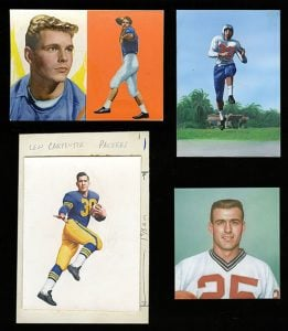 Flexichromes used to make football cards