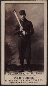 1887 N172 Old Judge photograph card of Ed Delahanty
