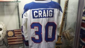 1980 US Miracle on Ice jersey Jim Craig collection