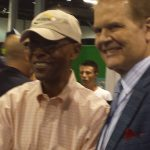 Gale Sayers and Chet Coppock