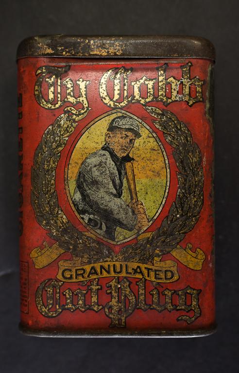 Ty Cobb Tobacco Tin Wheatland Auction