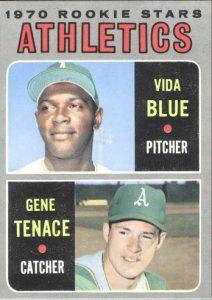 Vida Blue-Gene Tenace rookie card