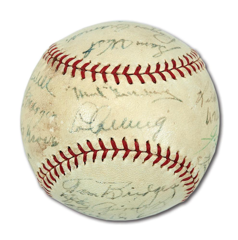 1937 All Star autographed baseball