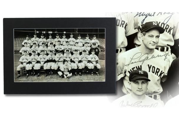 Yankees 1938 team signed photo