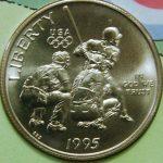 1995 U.S, Mint Baseball coins Olympic commemorative half dollar