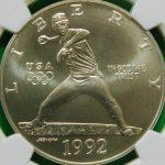 1992 U.S. Mint Baseball coins silver dollar