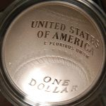 U.S. Mint Baseball coins Hall of Fame silver dollar proof reverse