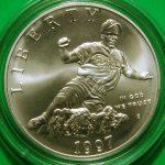 Jackie Robinson silver dollar coin