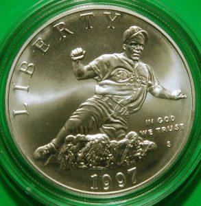 Jackie Robinson U.S. Mint Baseball coins silver dollar