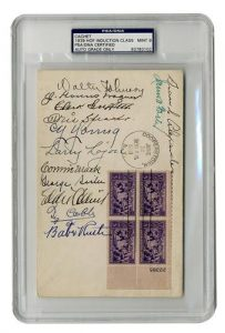 Autographed First Day Cover 1939 Hall of Fame class