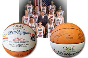 1992 Dream Team autographed basketball