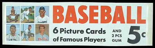 1950 Bowman Baseball advertising sign
