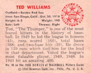 ted williams 1950 bowman