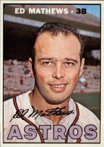 Eddie Mathews 1967 Topps