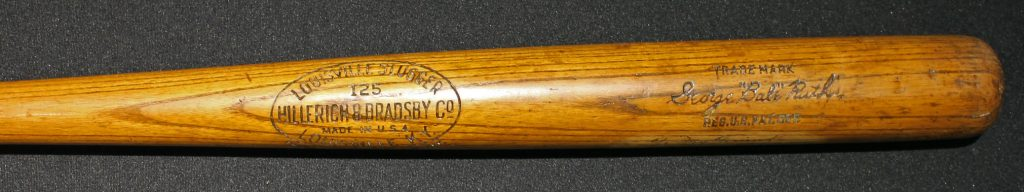 Babe Ruth model bat 1925 autographed