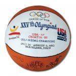 Autographed Dream Team basketball