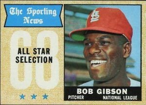 Bob Gibson 1968 Topps All-Stars
