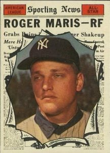 Roger Maris 1961 Topps All-Star