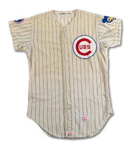 Ernie Banks 1968 Cubs jersey game worn