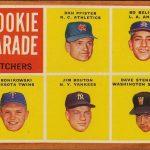 Jim Bouton-Bo Belinksy-1962 Topps Rookie Parade