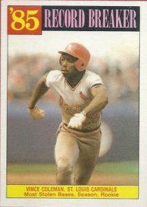 Vince Coleman 1986 Topps Record Breaker