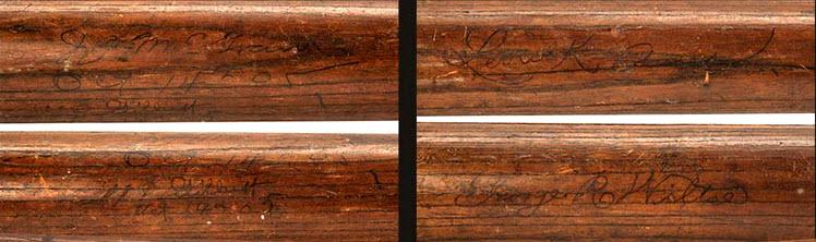 World Series bat 1905 autographed