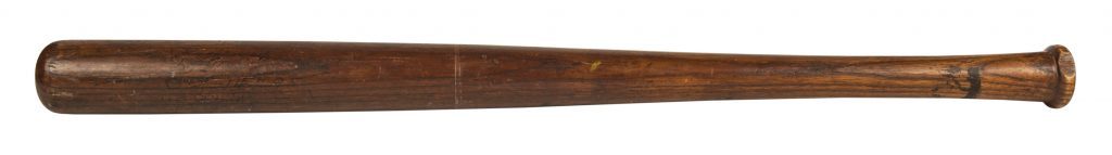 1905 World Series bat Christy Mathewson