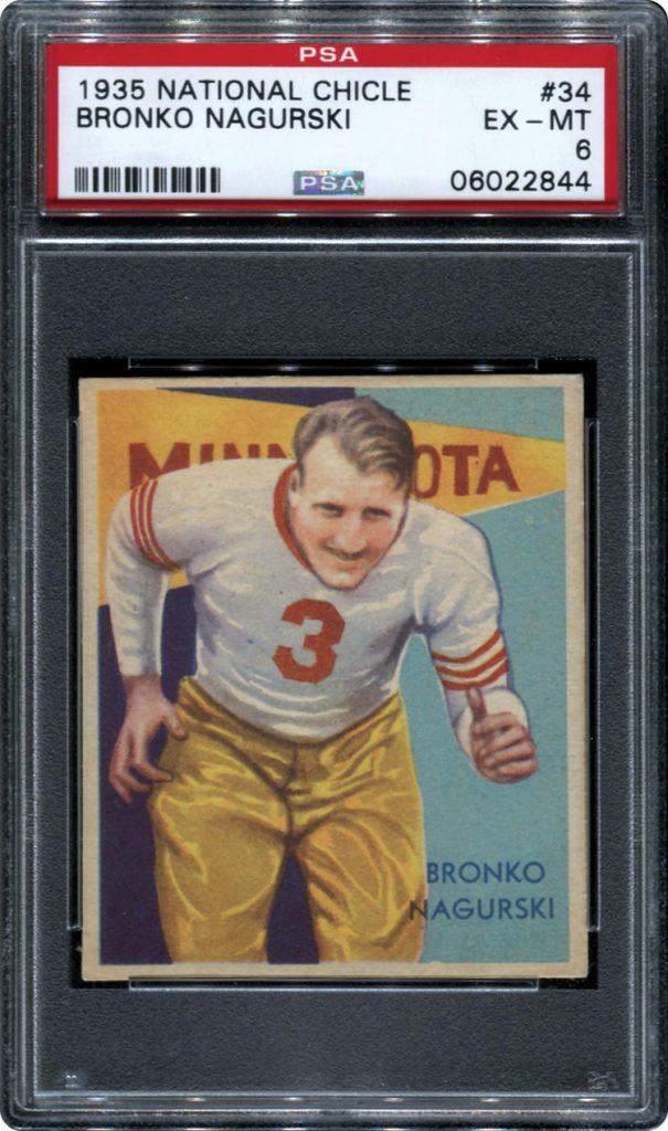 Bronko Nagurski 1935 National Chicle PSA 6