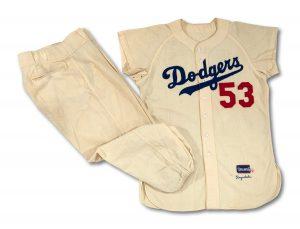1956 Brooklyn Dodgers uniform Don Drysdale