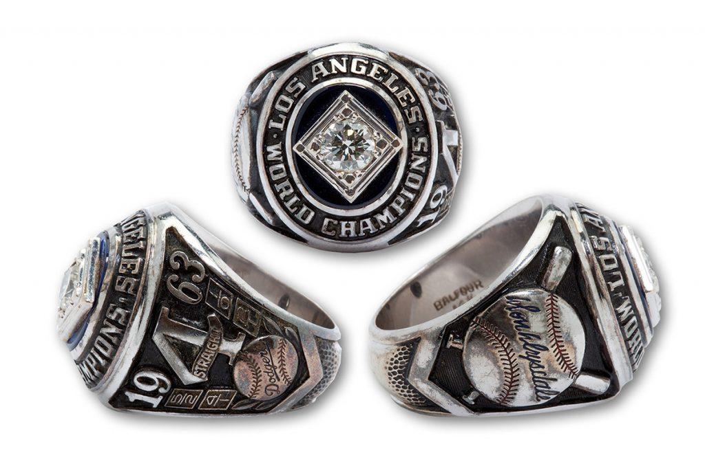 Don Drysdale 1963 World Series ring