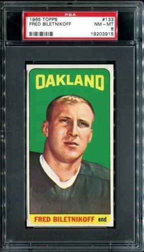Fred Biletnikoff rookie card