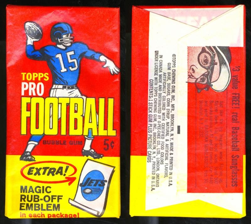 Topps 1965 Football pack