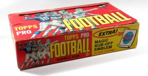 Topps 1965 Football Display Box