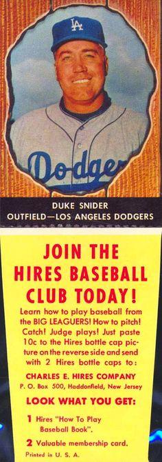 Duke Snider 1958 Hires