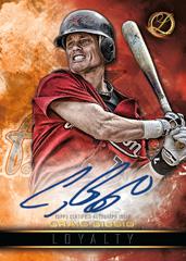 Craig Biggio red parallel 2016 Topps Legacies Loyalty autograph