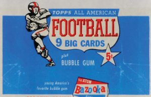 Topps 1955 All-American football wrapper