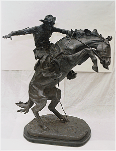 Remington is best know for his sculptures and paintings of the Wild West