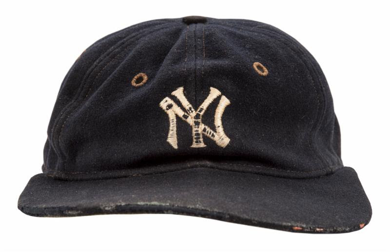 Game worn Babe Ruth cap Goldin Auctions