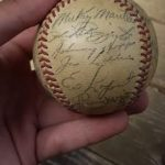 Yankees 1952 team signed baseball