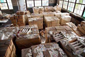 cards abandoned warehouse